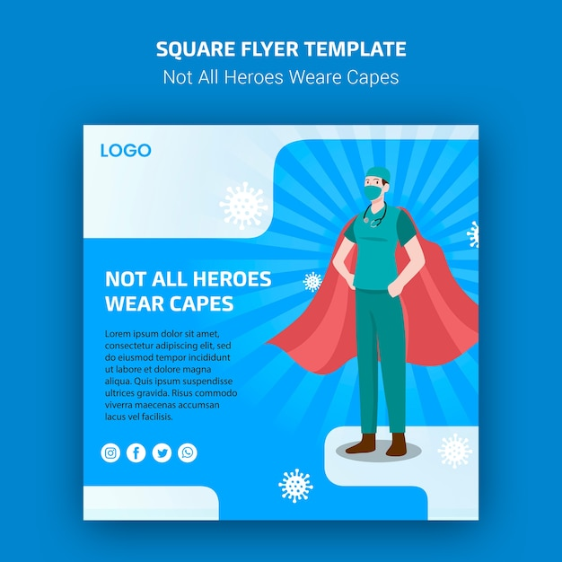 Not all heroes weare capes flyer concept Free Psd