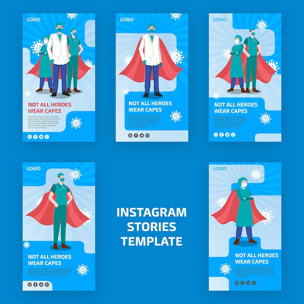 Not all heroes weare capes instagram stories Free Psd