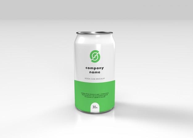 Aluminium soda can mockup Premium Psd