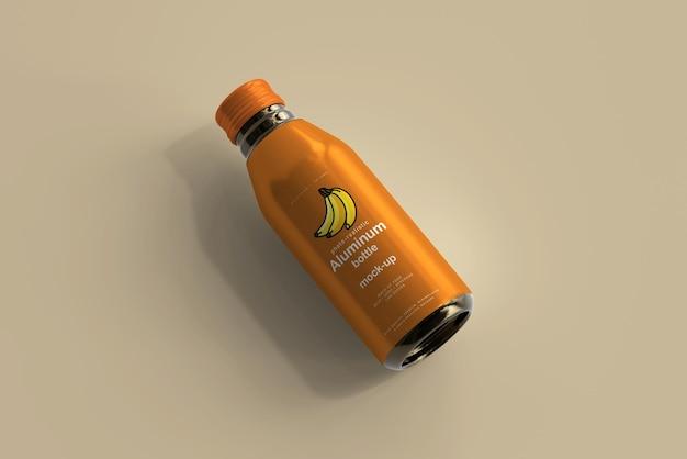 Мокап алюминиевой бутылки для напитков Бесплатные Psd