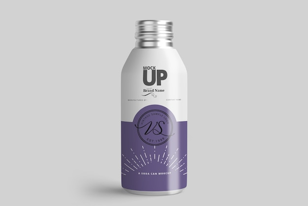 Aluminum bottle mockup Premium Psd