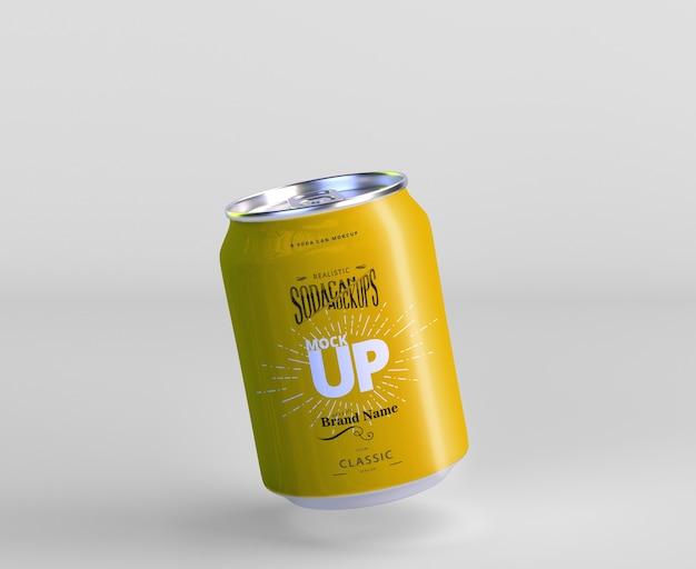 Aluminum mini soda can mockup Premium Psd