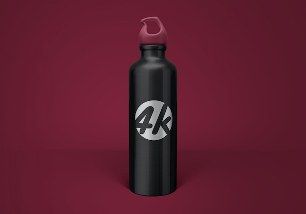 Aluminum water bottle mockup Premium Psd