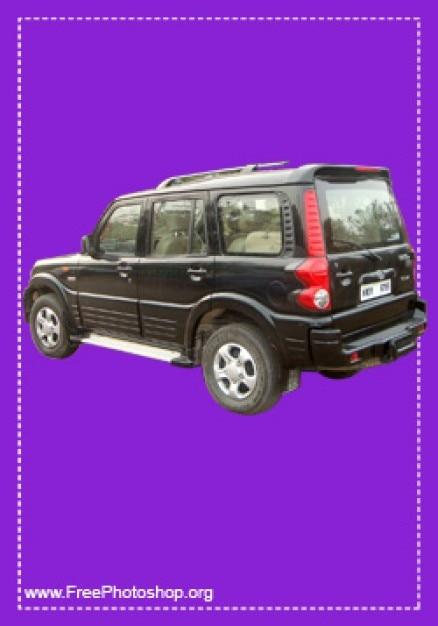 Amazing black jeep psd Free Psd