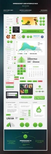 Amazing user interface kit psd 2 Free Psd