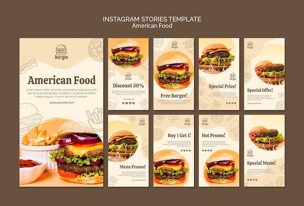American food instagram stories template Free Psd