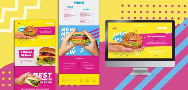 Американские пищевые веб-шаблоны Бесплатные Psd