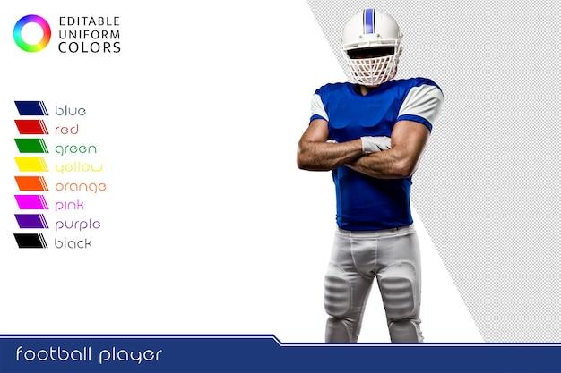 잘라 여러 화려한 유니폼과 미식 축구 선수 프리미엄 PSD 파일