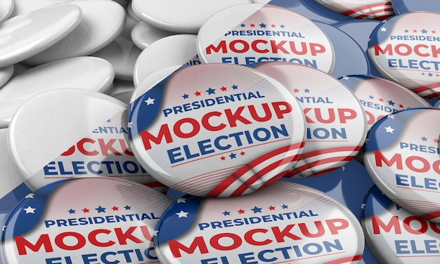 Modello di insegne di voto americano Psd Gratuite