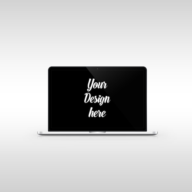 Apple macbook pro mockup Premium Psd