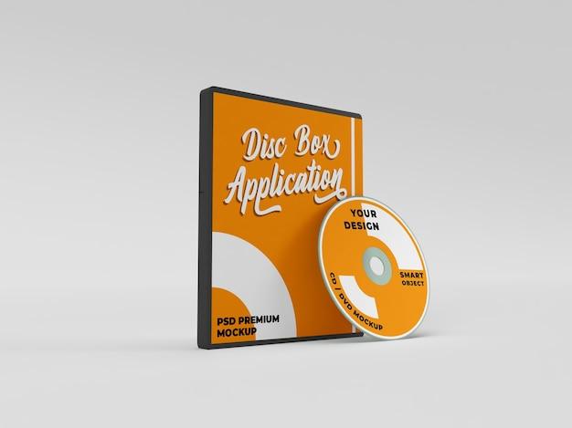 Установщик приложений cd dvd обложка диска реалистичный макет Premium Psd