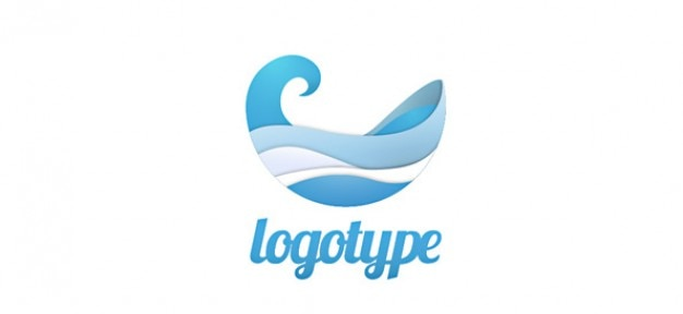 aqua logo design template psd file free download
