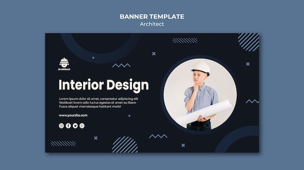 Architect Career Banner Style Free Psd File