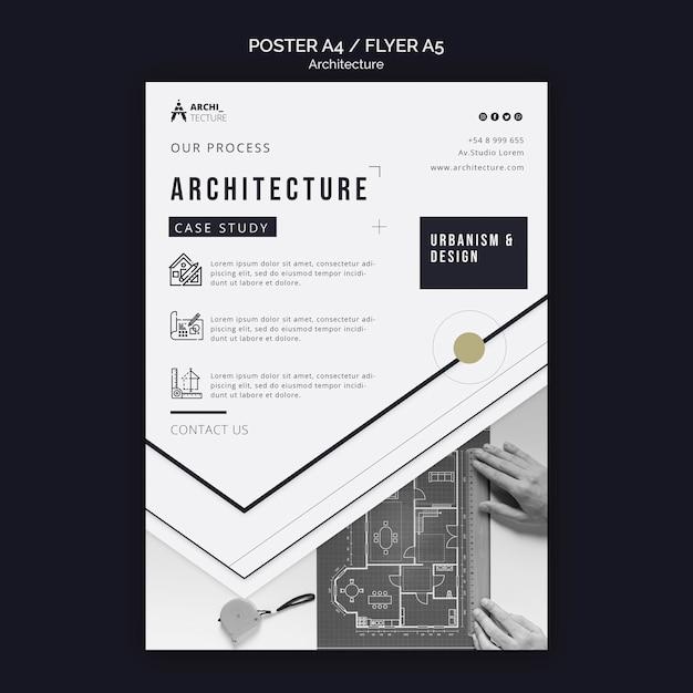 건축 개념 포스터 템플릿 무료 PSD 파일