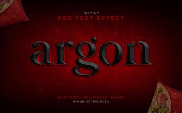 Argon psd text effect mockup Premium Psd