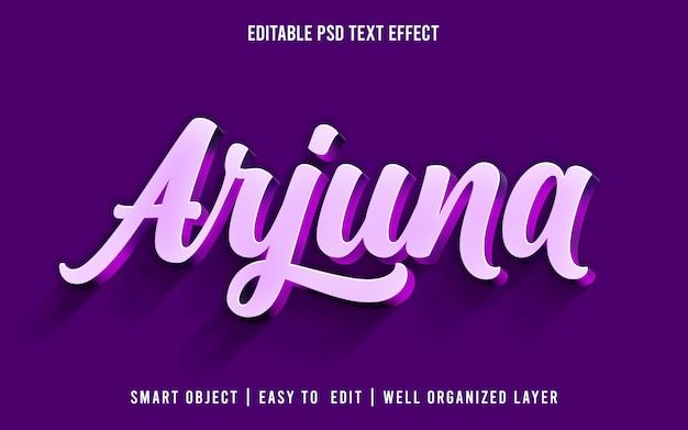 Arjuna, 편집 가능한 텍스트 효과 스타일 Psd 프리미엄 PSD 파일