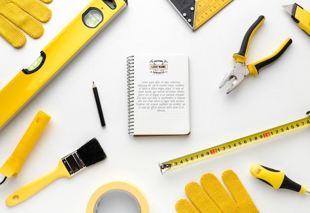 Arrangement of different repairing tools Free Psd