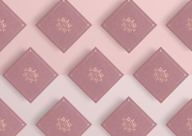 Композиция из розовых ювелирных подарочных коробок Бесплатные Psd