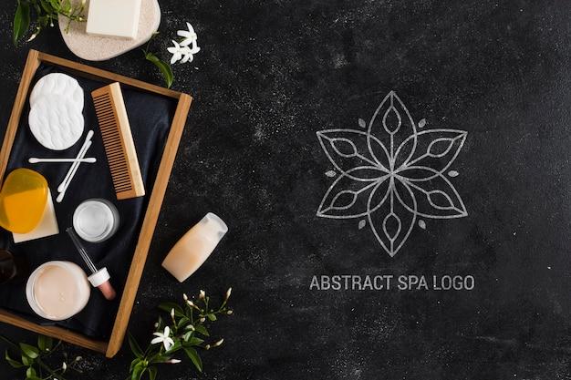 Композиция с абстрактным логотипом спа салона Бесплатные Psd
