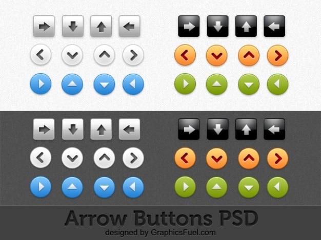 arrow buttons psd pack Free Psd