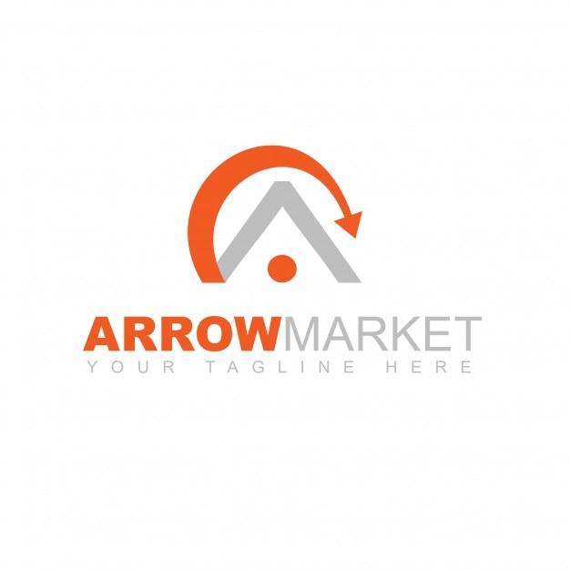 Arrow market logo Free Psd