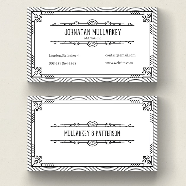 Art deco border vectors photos and psd files free download art deco business card reheart Choice Image