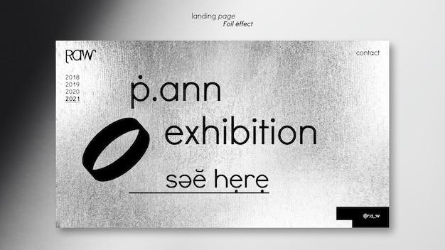 미술 전시회 방문 페이지 프리미엄 PSD 파일