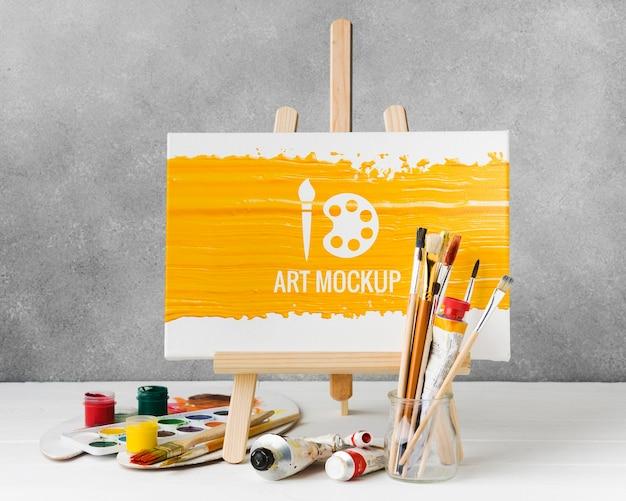 수채화로 예술 모형 무료 PSD 파일
