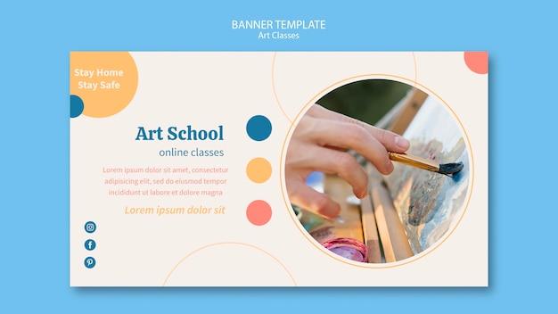 Modello di banner scuola d'arte Psd Gratuite