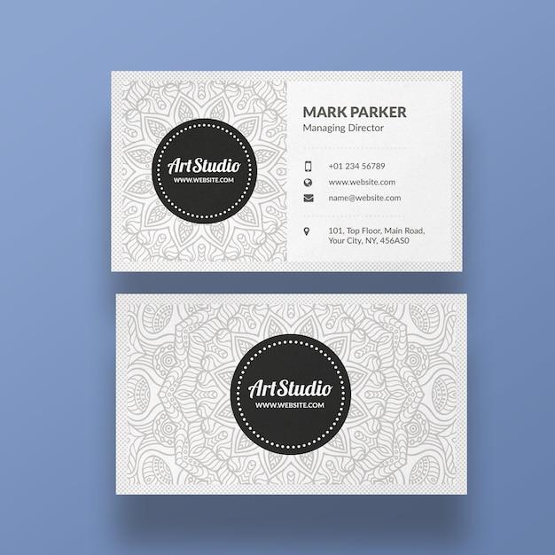 Арт студия чистый шаблон визитной карточки Premium Psd
