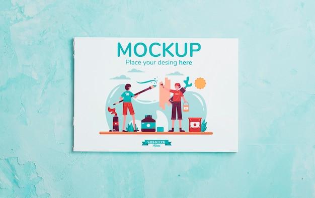 カードのモックアップとアーティストコンセプトの品揃え 無料 Psd
