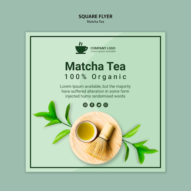 Artistic concept for matcha banner Free Psd