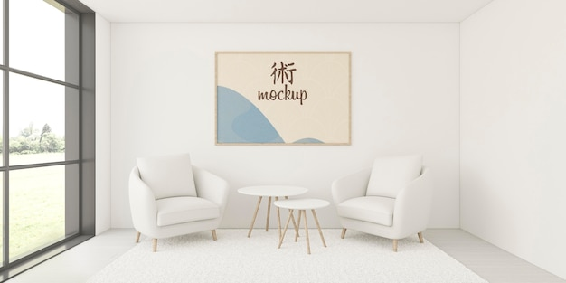 Assortment for home interior with frame mock-up Free Psd
