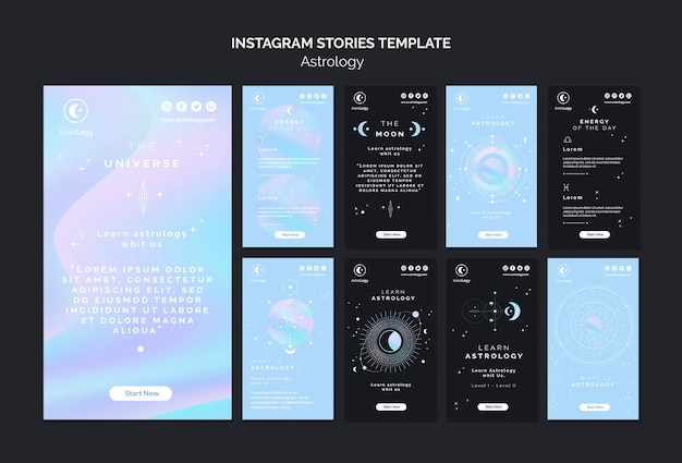 Astrology instagram stories pack Free Psd