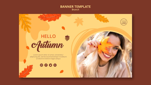 Autumn ad banner template Free Psd