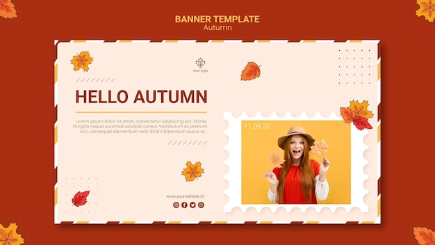 Autumn ad landing page template Free Psd