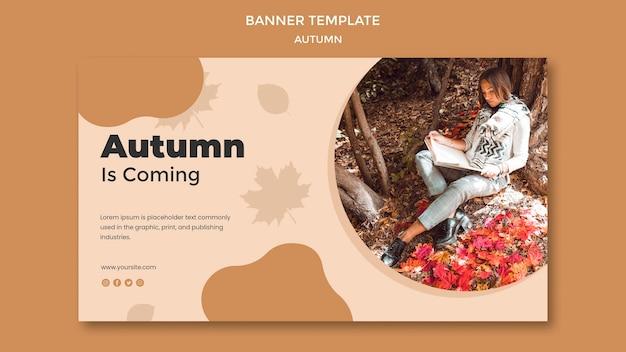 Autumn banner template theme Free Psd