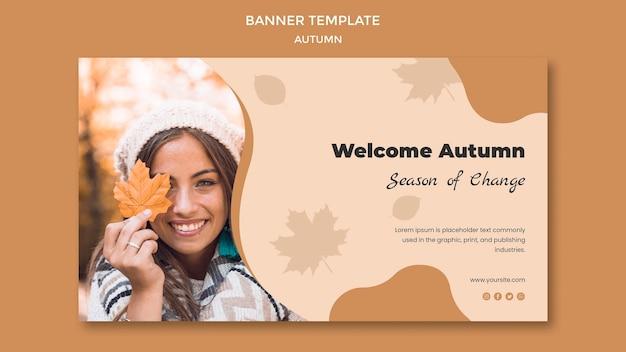 Autumn banner template Free Psd