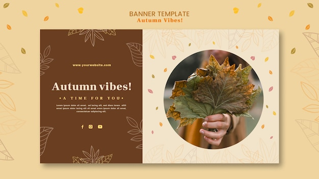 Autumn concept banner template Free Psd