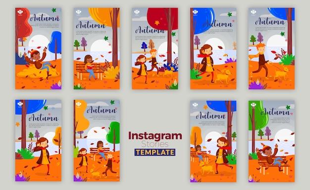 Autumn concept instagram stories Free Psd