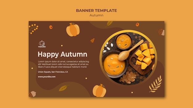 Modello di banner festa d'autunno Psd Gratuite