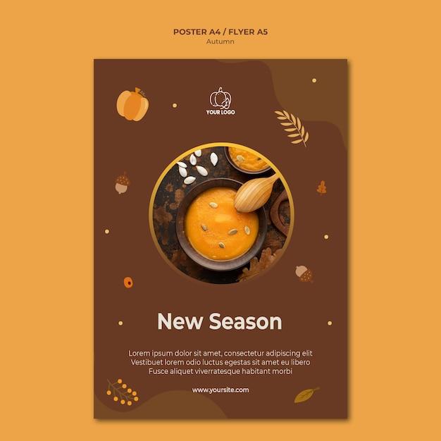 Autumn fest poster template Free Psd