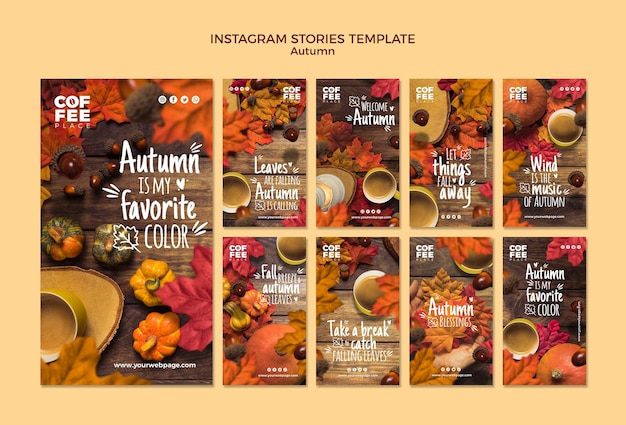 Autumn instagram stories Free Psd