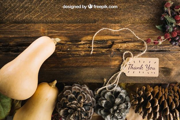 Осенний макет с тыквами Бесплатные Psd