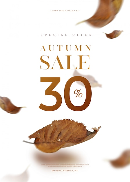Autumn sale banner Premium Psd