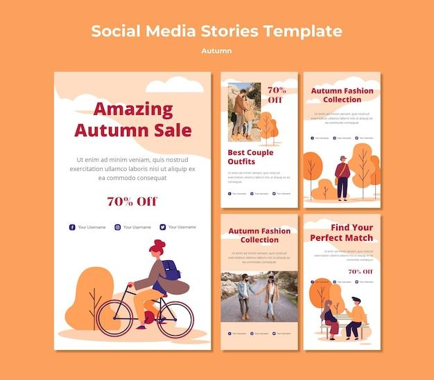 Autumn social media stories Free Psd