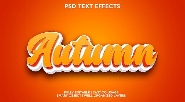 Autumn text effect modern Premium Psd