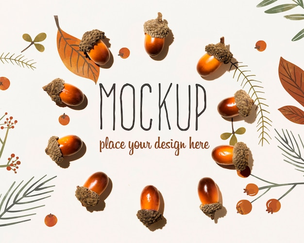 Autumnal mock-up concept Free Psd