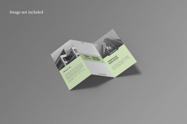 Awesome trifold mockup Premium Psd