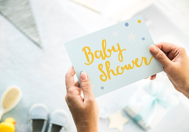 Baby boy baby shower Premium Psd